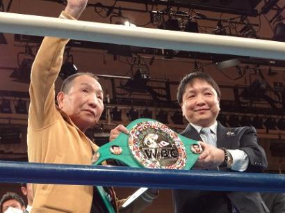 袴田さん、後楽園ホールのリングに立つ(ボクシングニュース)