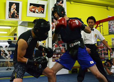 アジア大会日本代表が井岡ジム勢とスパーリング(ボクシングニュース)