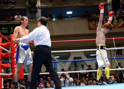 溜田が3回TKO勝ち(ボクシングニュース)