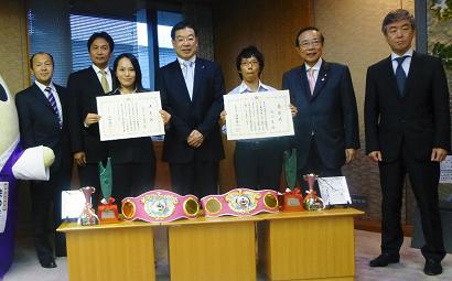 女子王者の池原、池山に京都スポーツ特別賞(ボクシングニュース)