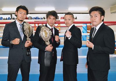 京都ダブル日本タイトルマッチ記者会見(ボクシングニュース)