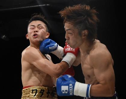 岡本ナオヤ殊勲、日本4位の渡部大介を一撃TKO